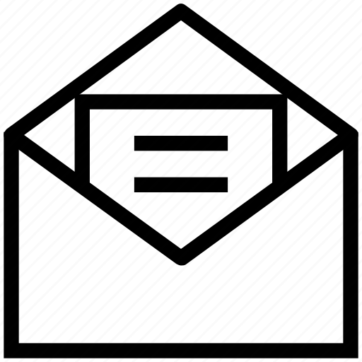 email, email message, email sign, open email icon