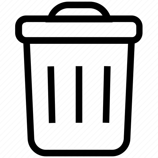delete, dustbin, recycle bin, remove, trash, trashcan icon