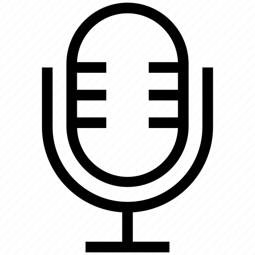 mic, microphone, recording mic, retro, sound recorder icon