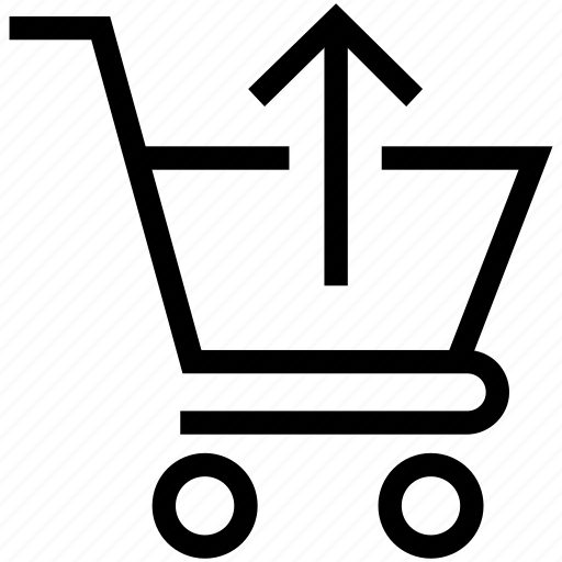 Arrow, shopping cart, shopping cart arrow, up sing on cart icon - Download on Iconfinder