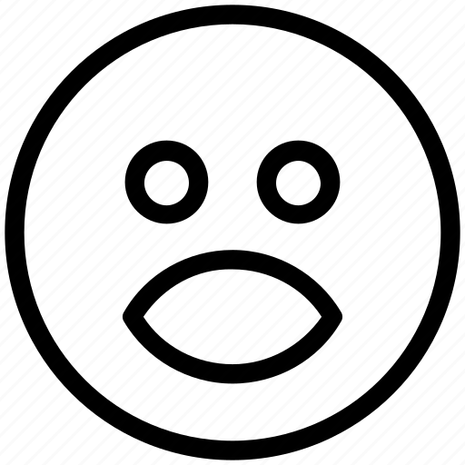 Bemused face, emoticons, emotion, expression, face smiley, smiley, stare emoticon icon - Download on Iconfinder