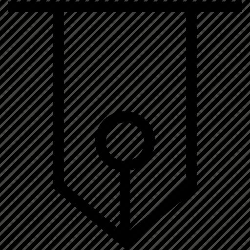 Ink pen, ink pen sign, nib, pen nib icon - Download on Iconfinder