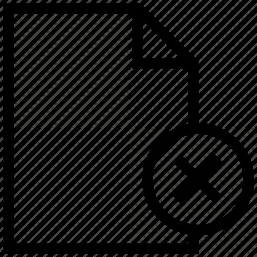 cancel fine, cross sign, document, extension file, file, file folder, folder icon