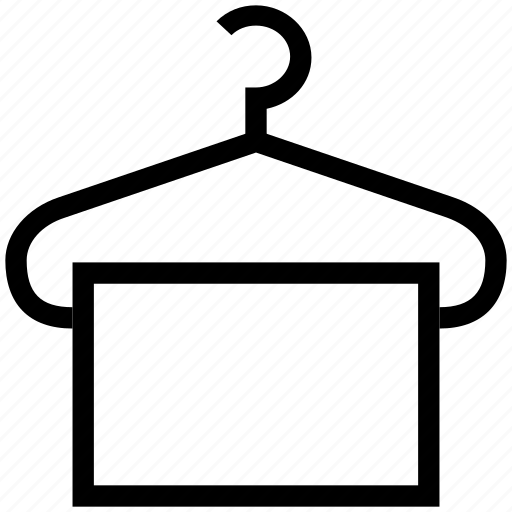 Hanged towel, hanger, toilet towel, towel, towel on hanger icon - Download on Iconfinder