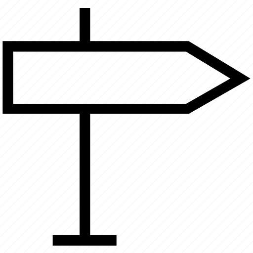 address arrow, arrow, board, crossroads sign, destination board, direction board icon