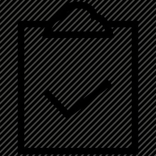 check mark, check sign, checked clipboard, clipboard, clipboard tick sign icon