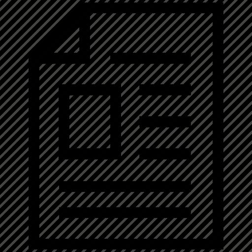 document, file, microsoft file, text file icon