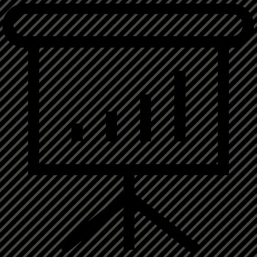 bar chart, diagram, diagram board, graph on board, presentation icon