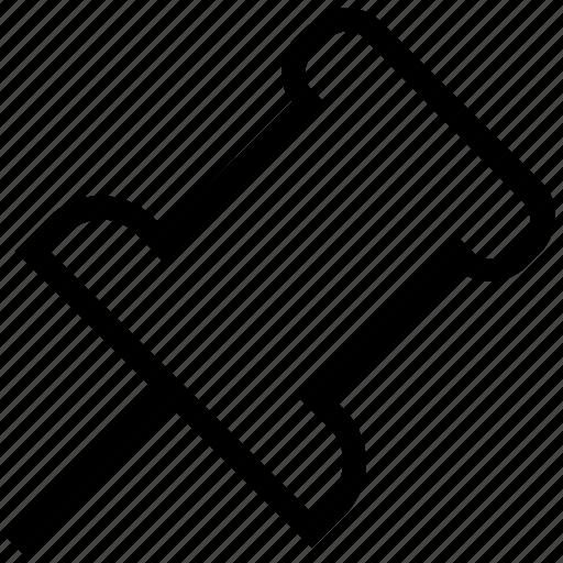 connect pin, document pin, joint pin, pushpin, tack pin, thumbtack icon
