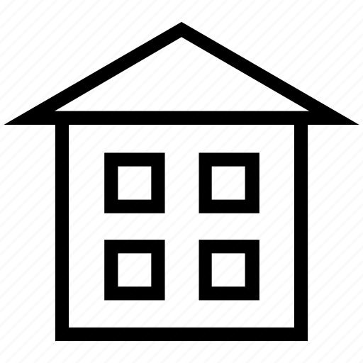 building, cottage, estate, home, house, real estate icon