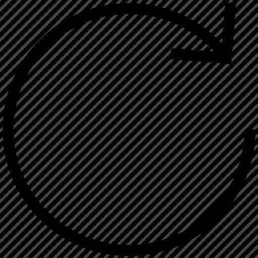 arrow, looping, recycle, recycling, undo arrow icon