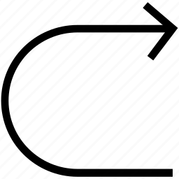 connector arrow, curve arrow, left arrow, repeat, undo arrow icon
