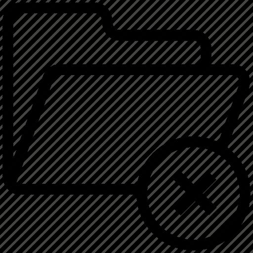 cancel folder, cross sign, delete folder, document, file folder, folder icon