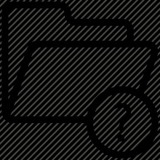 file, folder, folder with question mark, interrogative folder, questions file, questions folder icon