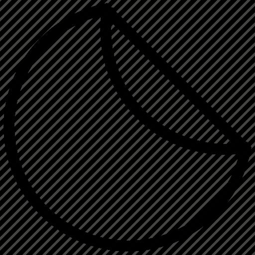 business, chart, half pie chart, pie chart icon