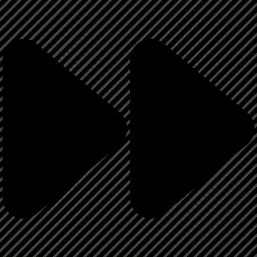 arrow button, fast button, forward button, multimedia, next button, right button icon