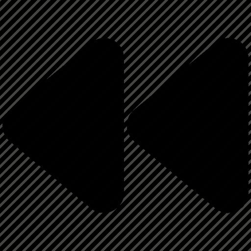 Arrow button, back button, multimedia, reverse button, rewind button icon - Download on Iconfinder