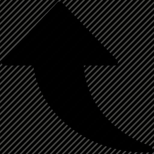 arrow, arrow sign, move, transfer, up, up arrow, upload icon