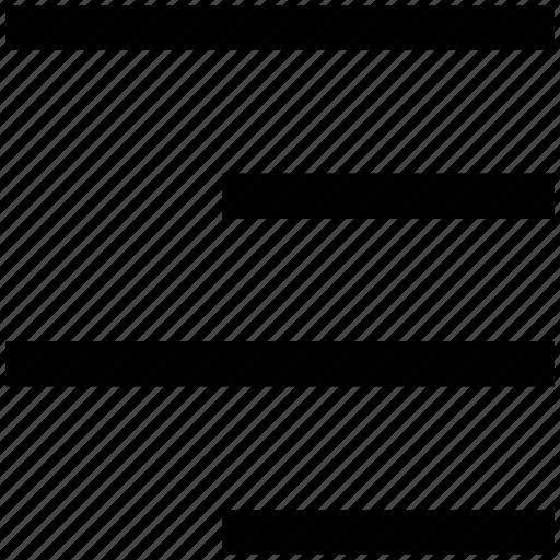 align, alignment, left to right align, right, text align icon