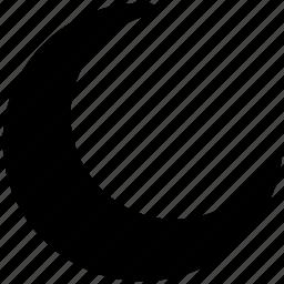 half, moon, moon shape, moon sign icon