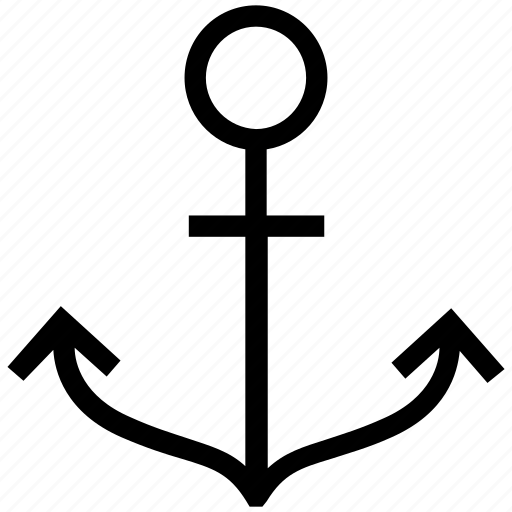 anchor, archery, marine, ship anchor, toxophilite icon
