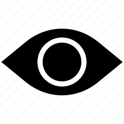 eye, eyeball, retina, view, visibility, vision icon