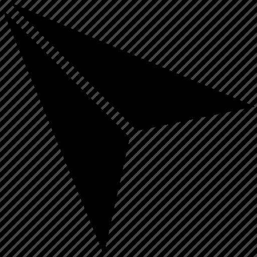 paper aeroplane, paper dart, paper glider, paper plane icon