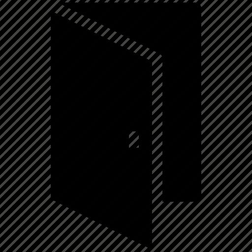 door, exit, gate, main door, open door, out icon