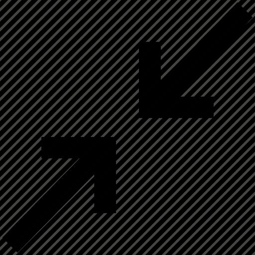 arrows, condense arrow, interface, meeting, resize icon