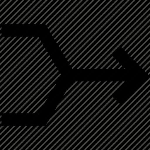 arrows, cross, crossing, shuffle icon