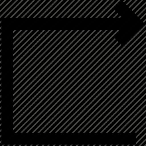 connecting arrow, right arrow, squares icon