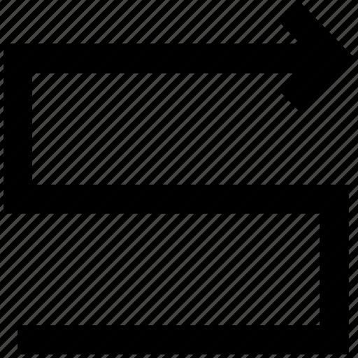curve arrow, curved arrow, left arrow icon