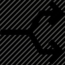 connector, connectors, squares, up arrow, up arrows icon