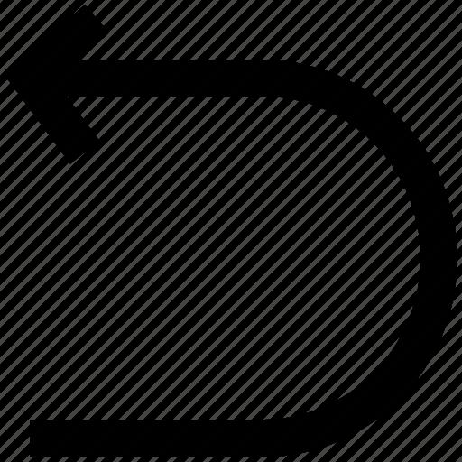 connector arrow, curve arrow, right arrow, undo arrow icon