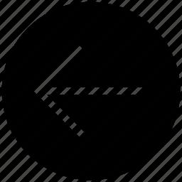 back, direction, left, left arrow, previous icon