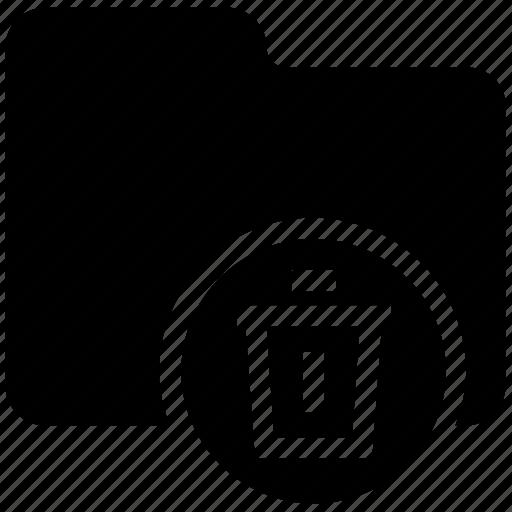 folder delete, folder trash, folder with trash can, remove folder, trash, trash can icon