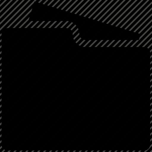 documents, file in folder, folder, open folder icon