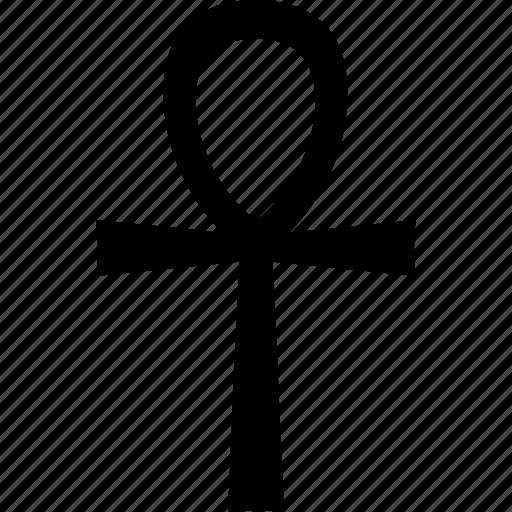 ankh, ansata, cross, crux, handle, hieroglyph, life icon