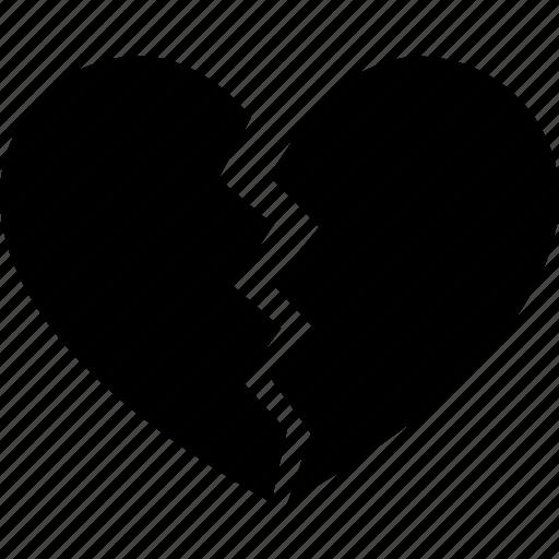 break, breakup, broken, divorce, heart, heartbreak, separation icon