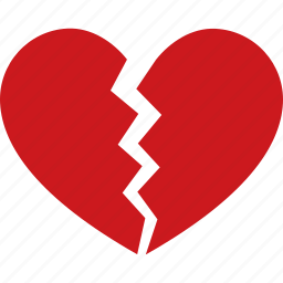 break, breakup, broken, divorce, heart, heartbreak, separation icon