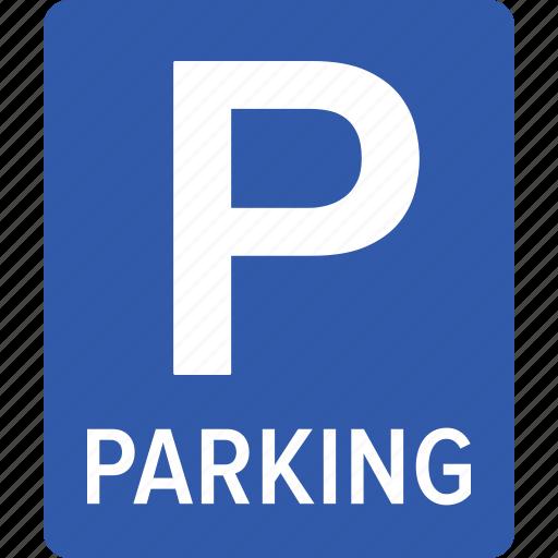 car, facility, garage, park, parking, sign, vehicle icon