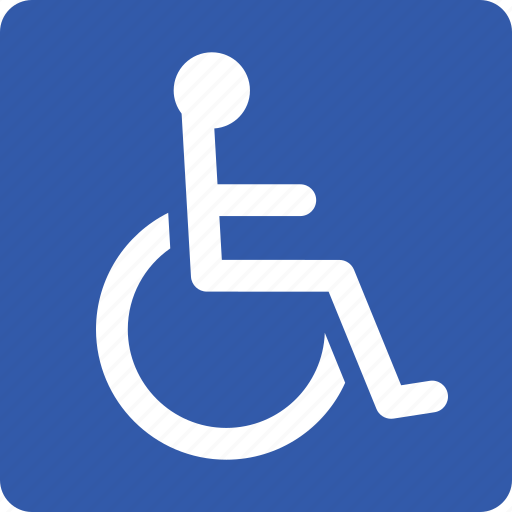 accessibility, disabled, handicap, handicapped, parking, sign, wheelchair icon
