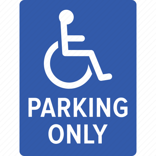accessibility, disabled, handicap, handicapped, only, parking, wheelchair icon