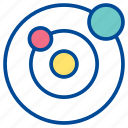 orbit, orbital planet, planet, revolution, rotation, space, universe icon