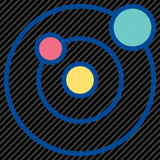 orbit, orbital planet, planet, revolution, rotation, space, universe icon
