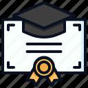 certificate, degree, diploma, university