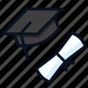 cap, diploma, graduate, graduation