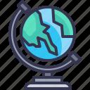 earth, globe, science, world