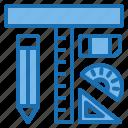 building, construction, education, school, tool, tools, university icon