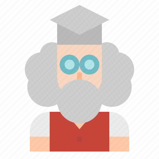 avatar, education, man, person, professor, teacher icon